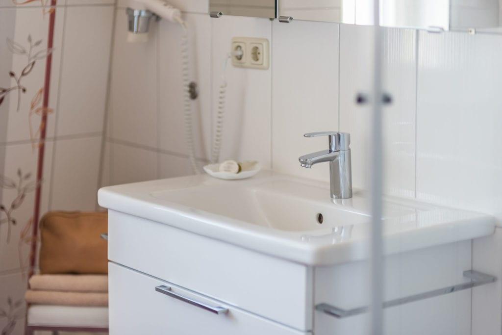 Detail des Badezimmers der Ferienwohnung 4